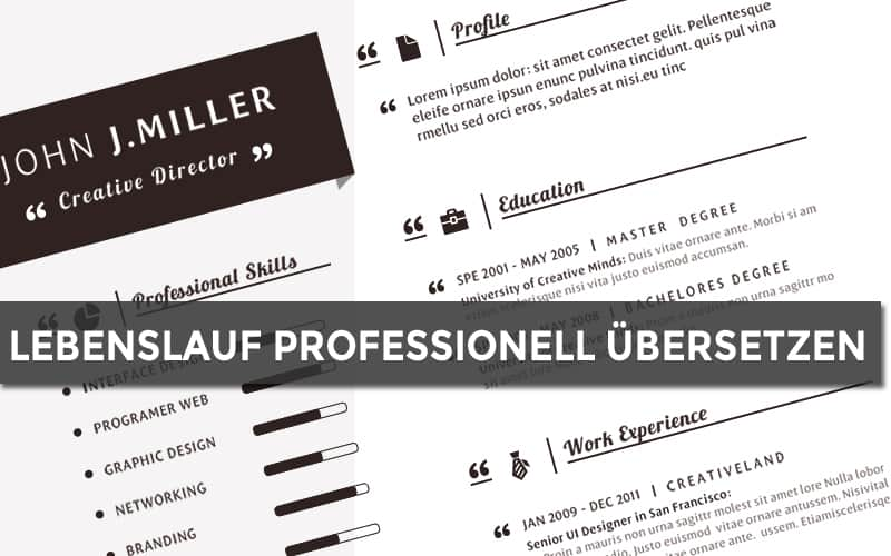 Lebenslauf professionell übersetzen » bei dolmatio.de